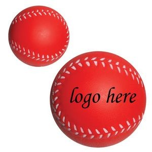 "2 1/2"" Red Baseball Stress Ball"