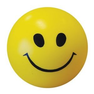 "2 1/2"" Yellow Smile Face Stress Ball"