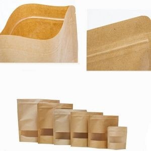 Stand-up Sealing Kraft Bag With Transparent Window