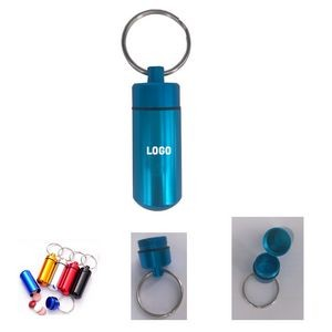 Waterproof Aluminum Pillbox Keychain