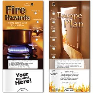 Pocket Slider™ - Fire Hazards: Home Safety with Escape Plan
