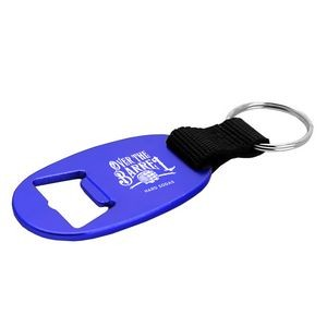 Flat Aluminum Bottle Opener / Key Ring