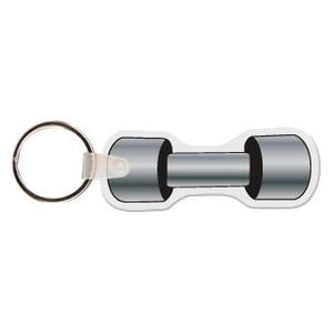Dumbbell Key Tag W/ Key Ring