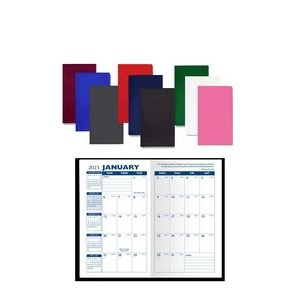 Monthly Pocket Planner with Suedine Vinyl Cover