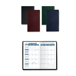 Monthly Pocket Planner with Castillion Leather-Like Vinyl Cover