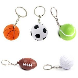 "1.6"" Stress Reliever Ball Key Chains"