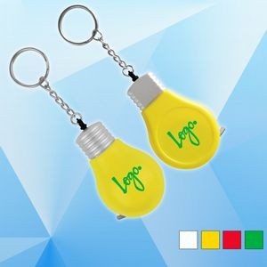 Light Bulb Shaped Tape Measure with Key Chain