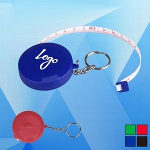 "Round 60"" Tape Measure with Keychain"