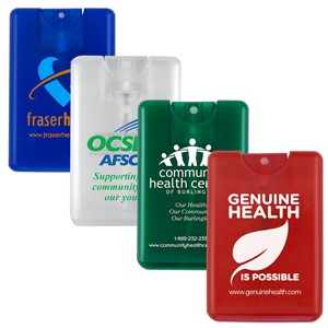 """SanCard"" 20 ml. Antibacterial Hand Sanitizer Spray in Credit Card Shape Bottle - (Spot Color)"