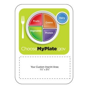 "Mega-Mag™ Shapes - ""Choose My Plate"" Magnet (4""x5-1/2"")"