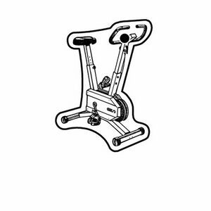 Key Tag - Exercise Bike - Spot Color