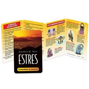 Stress Management Spanish Language Pocket Pal - Personalization Available