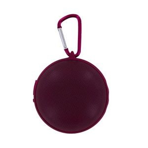 Hanging Bluetooth Speaker with Clip - Raspberry (Case of 8)
