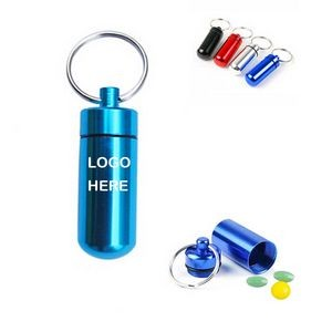 Aluminum Pill Bottle Key chain