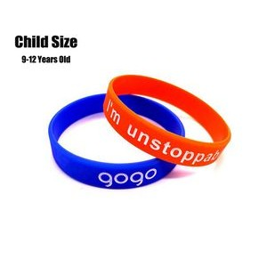 Color Filled Silicone Bracelet For Children